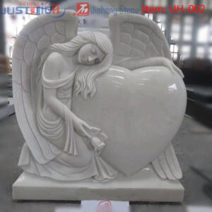 Angel with heart shape headstone wholesale from china supplier