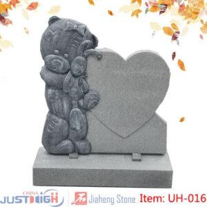 Cartoon carving children tombstone