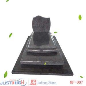 pierre tombale en granit poli