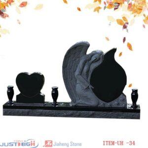 angel granite headstone