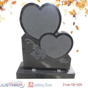 double heart upright headstone cheapest