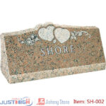heart flower granite headstone supplier